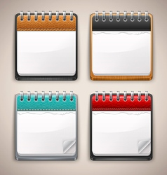 Collection of calendar icons vector