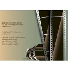 Conceptual background of film with a photo vector