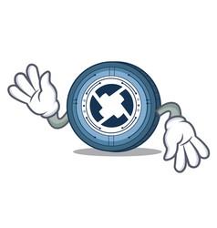 Crazy 0x coin mascot cartoon vector