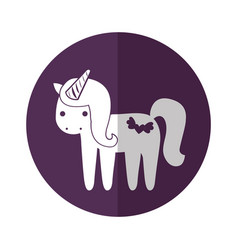 Cute fantasy unicorn character vector