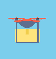 dron delivers from online store vector image
