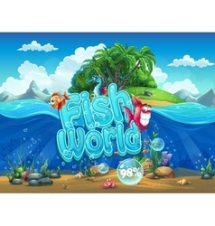 Fish World - boot screen to the vector image