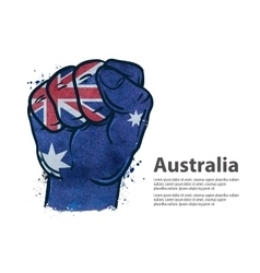 Fist the flag of Australia vector image