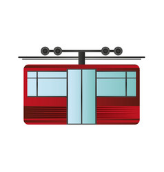 funicular or cable car icon image vector image vector image