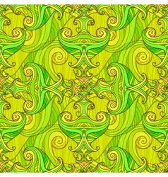 Green seamless abstract hand-drawn pattern vector image vector image