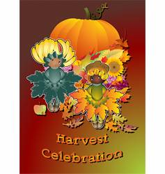 harvest celebration vector image vector image