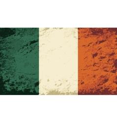 Irish flag grunge background vector