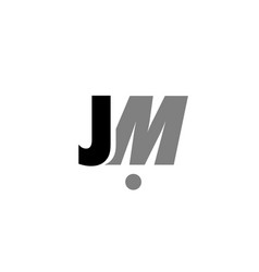 jm j m black white grey alphabet letter logo icon vector image vector image