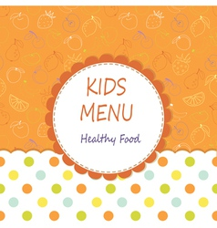 Kid menu vector