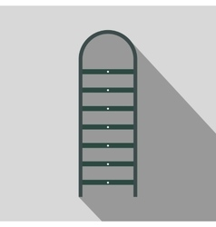 Ladder flat icon with shadow vector image