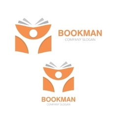 open book and man logo Education logo vector image