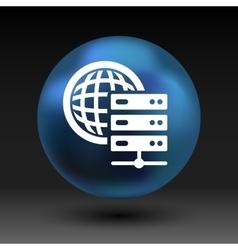 Planet Server icon symbol design workstation world vector image vector image