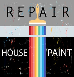Repair with paint brush vector