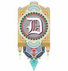 royal letter D vector image