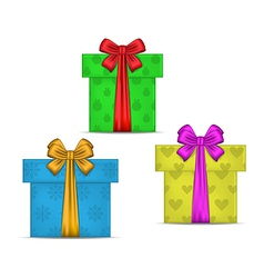 Set gift boxes isolated vector image vector image