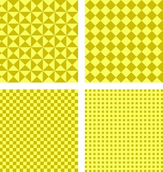 Simple yellow pattern background set vector