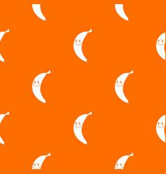 smiling banana pattern seamless vector image