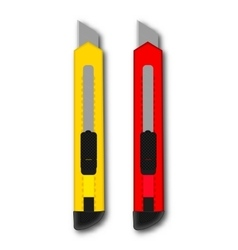 stationery knife red and yellow vector image
