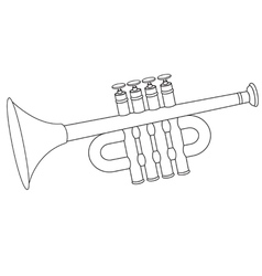 Trumpet toy vector image