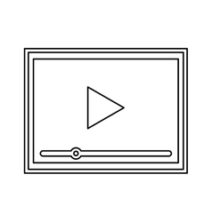 Video player isolated icon vector