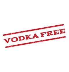 Vodka Free Watermark Stamp vector image vector image