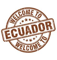 Welcome to ecuador vector