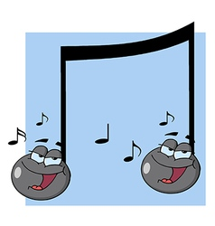 Double Musical Note Singing vector image