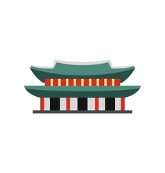 Gyeongbokgung palace in seoul korea icon vector
