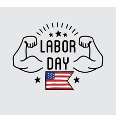 Labor day national holiday of the united states vector
