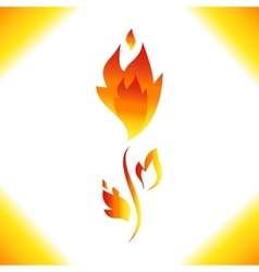 Fire icon isolated vector image