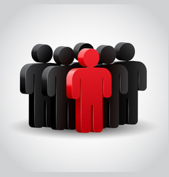 teamwork concept 3d vector image