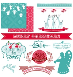 Scrapbook Design Elements - Vintage Christmas vector image
