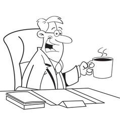 Cartoon Man Drinking Coffee vector image