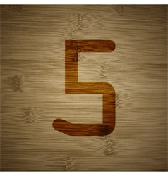 Number five icon symbol flat modern web design vector