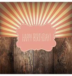 happy birthday vintage background vector image