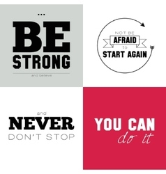 Motivational posters on the sport healthy vector