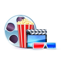 Cinema design elements vector