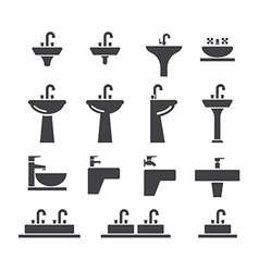 Sink icon set vector