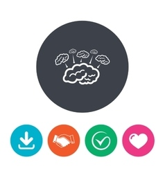 Brain sign icon brainstorm business ideas vector