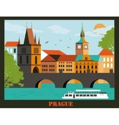 Pragua city vector image