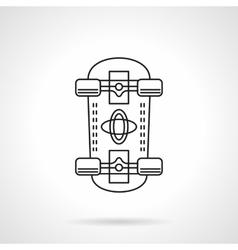 Skateboarding flat line icon vector image