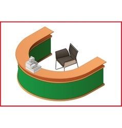 Reception flat isometric 3d vector