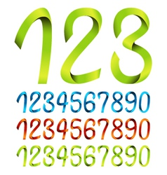 Color sets of ribbon numbers vector