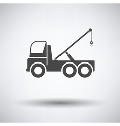 Car towing truck icon vector