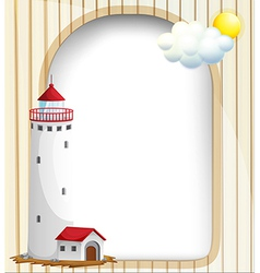An empty template with a high tower vector image vector image
