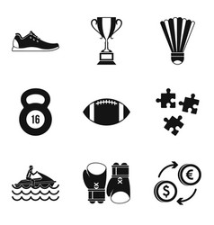 big money icons set simple style vector image vector image