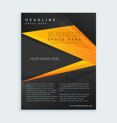 Black and yellow business brochure presentation vector