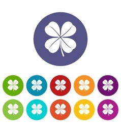 Clover leaf set icons vector image vector image