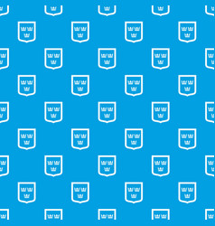 Coat of arms of sweden pattern seamless blue vector