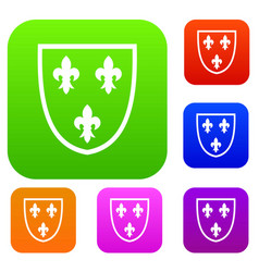 crest set collection vector image vector image